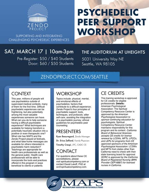 Seattle Peer Support Workshop on March 17, 2018